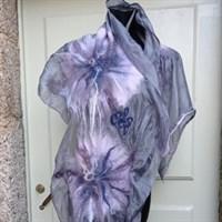 Nuno felted shawl.