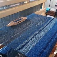 Ocean Blue 2 wool cushion