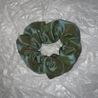 Olive Green Crushed Velvet Scrunchies