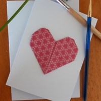 Origami Heart Greeting Cards Multicolour