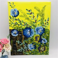 Painting One Stroke Floral Canvas