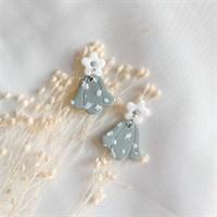 Pastel boho flower dangle earrings