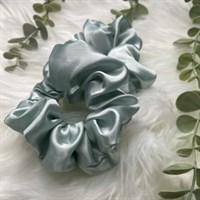 Pastel Collection Duck Egg Blue Satin Scrunchies