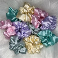 Pastel Collection Satin Scrunchies all colours