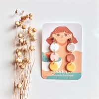 Pastel Cute Organic Drop Earrings
