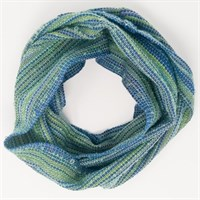 Peacock Feathers wool infinity scarf