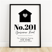 Personalised Family Home Address Print