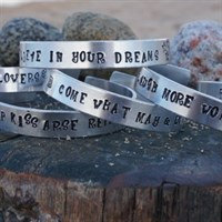 Personalised Hand Stamped Bracelets