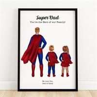 Personalised Superhero Dad Print