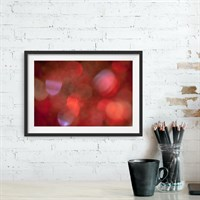 Photographic art print: Hot Gossip framed in room setting