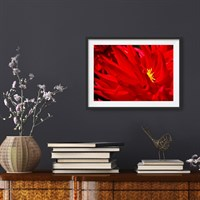 Photographic Art Print 'Striking Fire' shown framed in a room setting