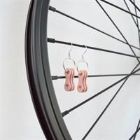 Light Pink Chain Link Drop Earrings