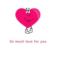 Pink heart greeting card.