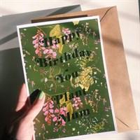 Birthday Card & Envelope