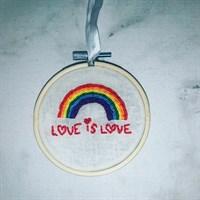 Pride Rainbow Embroidery hoop 3.5 inch