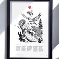 Bee Bird Print art
