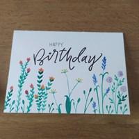 Rainbow Meadow Birthday Card