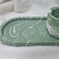 Sage green accessory try and pot set
