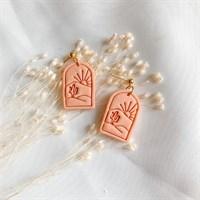 Sandy orange desert imprint earrings product review