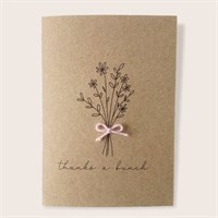 Simple Rustic Thank You Floral Card