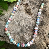Sky Bead Necklace In Pastel Colours