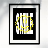 Smile Black - A3 Print