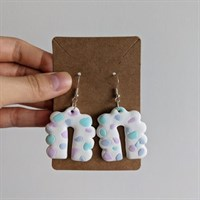 Speckled Bubble Arch Clay Earrings