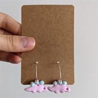 Strawberry Dinosaur Clay Earrings