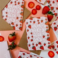 Strawberry Greeting Card Berry Nice Day