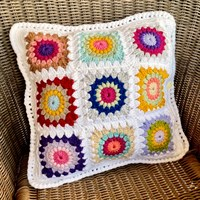 Sunburst Square Cushion 1