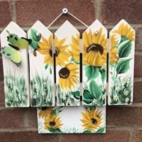 Sunflower Design Bespoke House Plaque