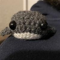 Handmade Tiny Crochet Whale
