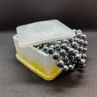 Square Trinket Box in Yellow/White