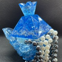 Ornate Blue/Silver Trinket Boxes