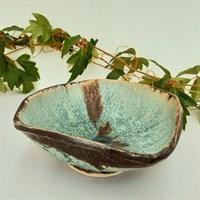 Verdigris ceramic bowl 'Unsquare Dance'