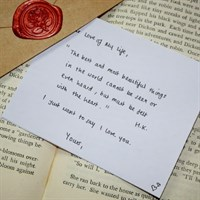 Love Letter Personalised Option