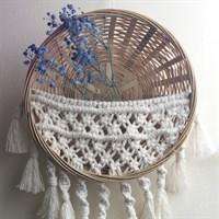 Wall-hanging Macrame Basket