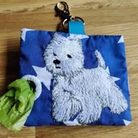West Highland poop bag holder
