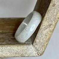White crystal resin ring