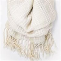 Winter White luxury shawl gallery shot 8