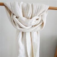 Winter White lovely wool shawl