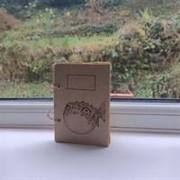 Wooden Pufferfish Notebook