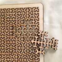 Wooden Square Fractal Tray Puzzle gallery shot 10