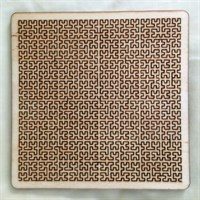 Wooden Square Fractal Tray Puzzle gallery shot 5