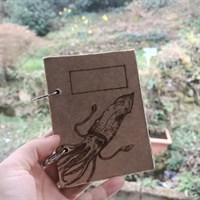 Wooden Squid Notebook