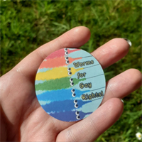 Worm on a string, gay pride sticker