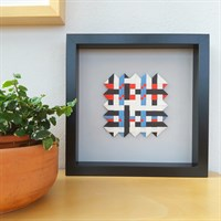 Woven paper artwork 'Crossing the Line'