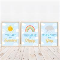 You Are My Sunshine Nursery Print Set